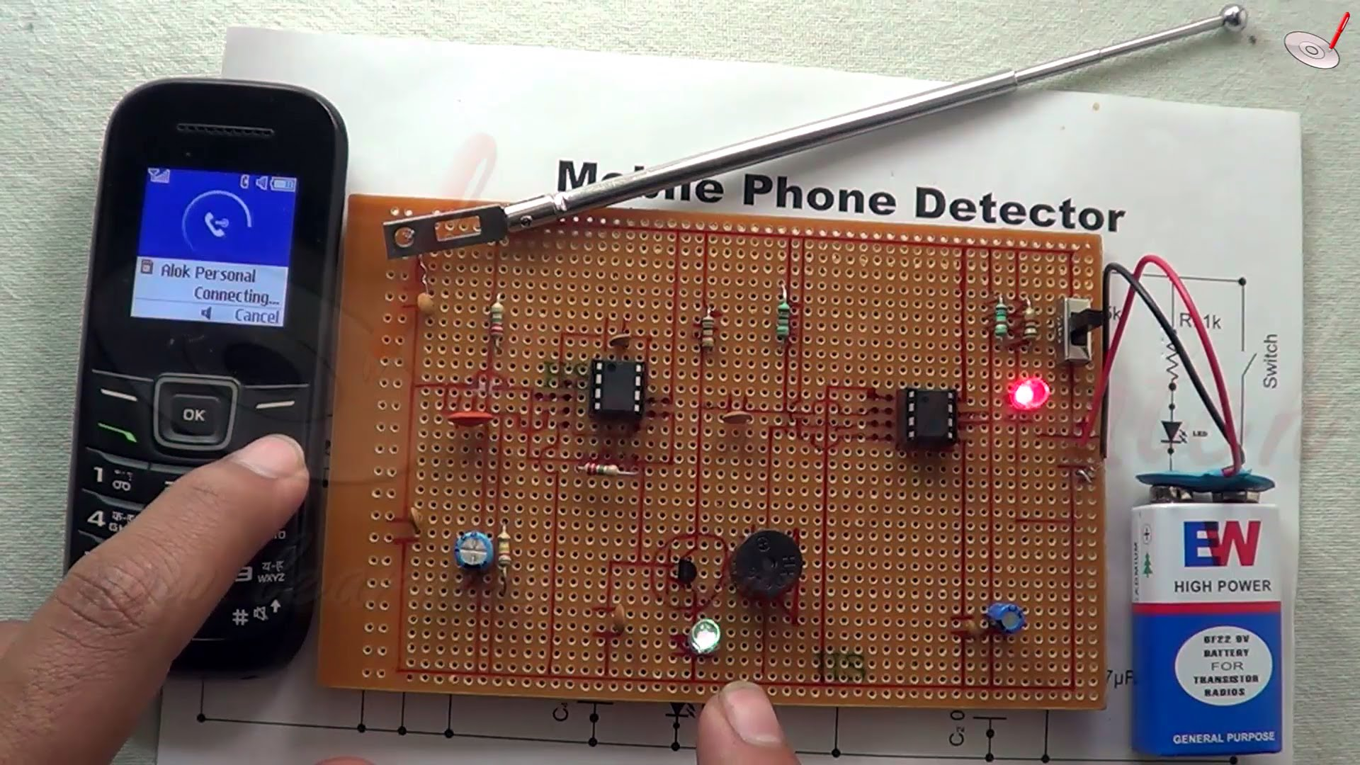 Science Project Mobile Phone Detector