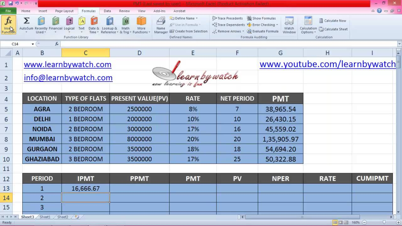 How to use IPMT Formula