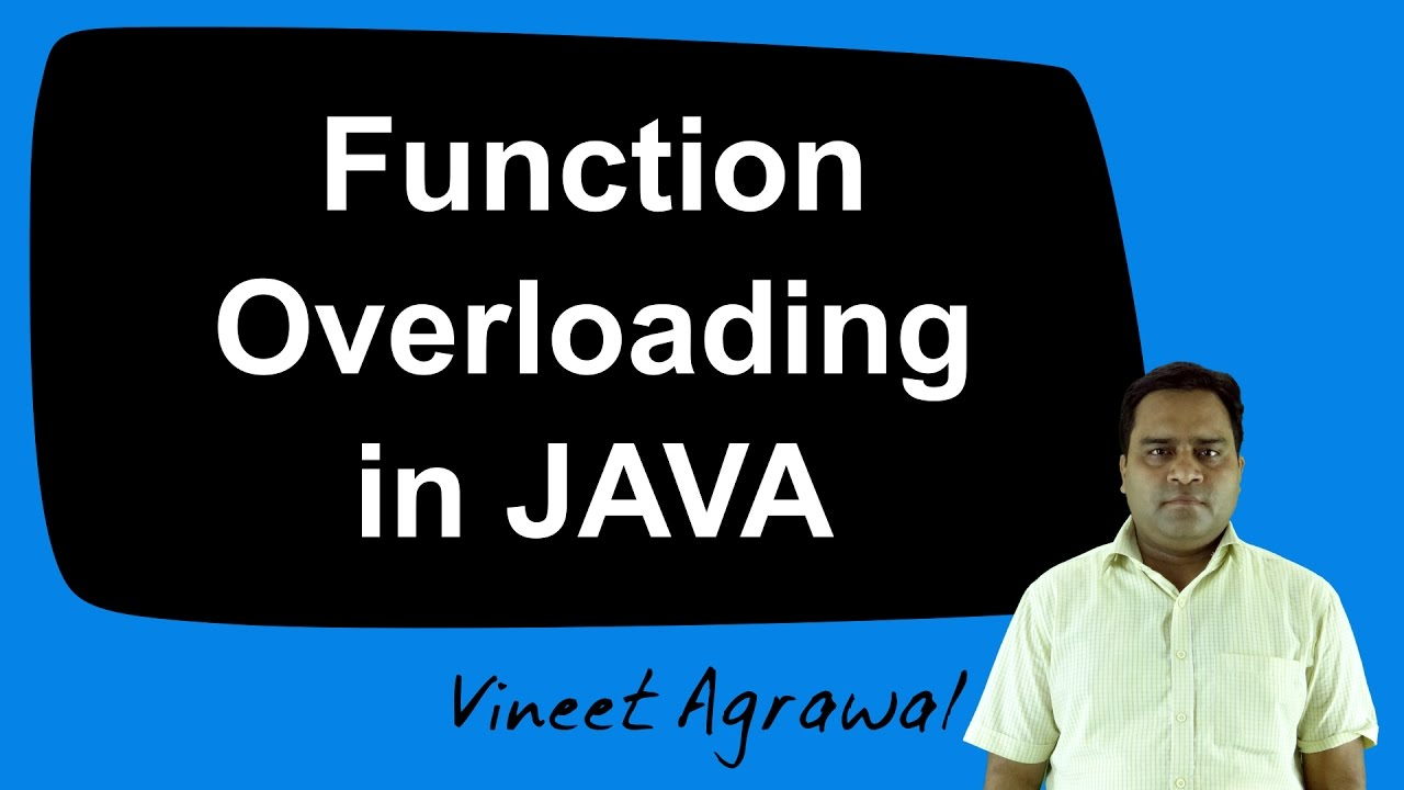 Function Overloading in JAVA