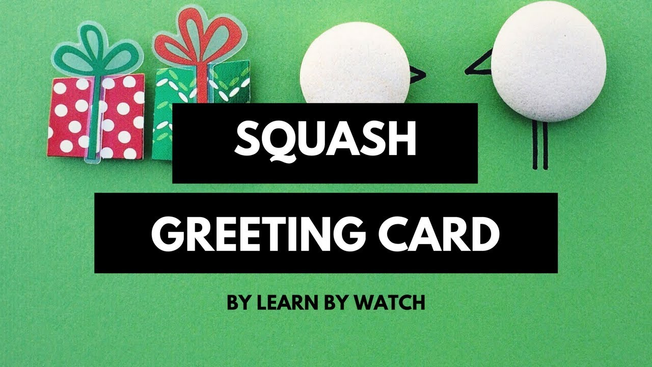 How to make Squash Greeting Card at home
