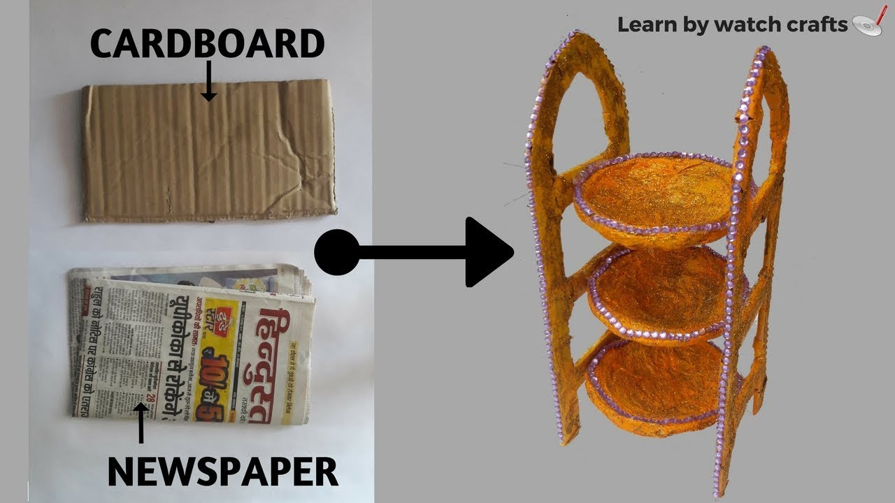 How to make DESK ORGANIZER with newspaper and cardboard (DIY)