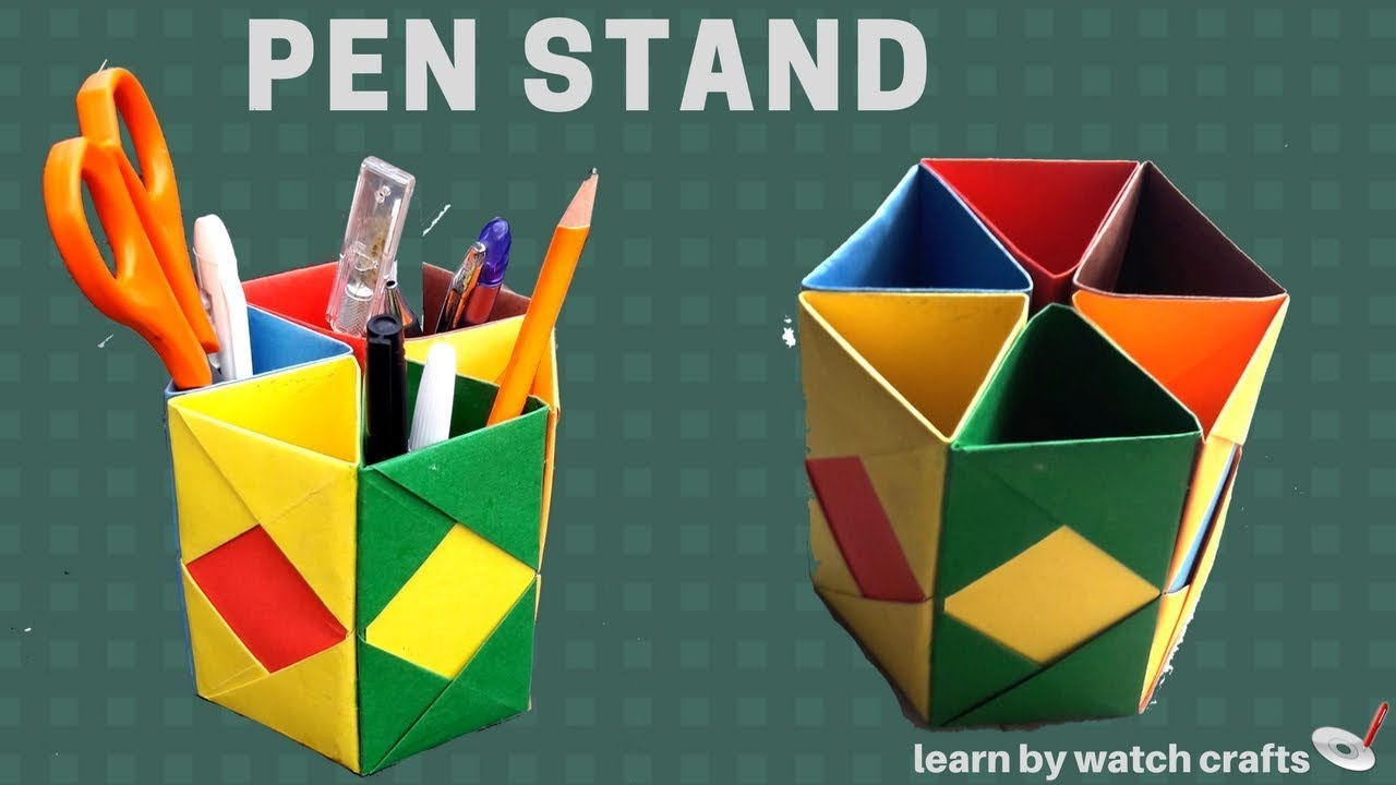 How to make a Pen Stand at Your Home (DIY)