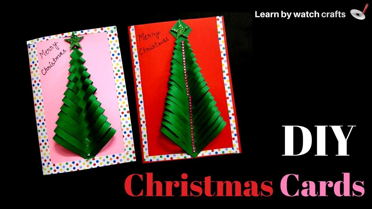How to make a Christmas card at Your Home (DIY)