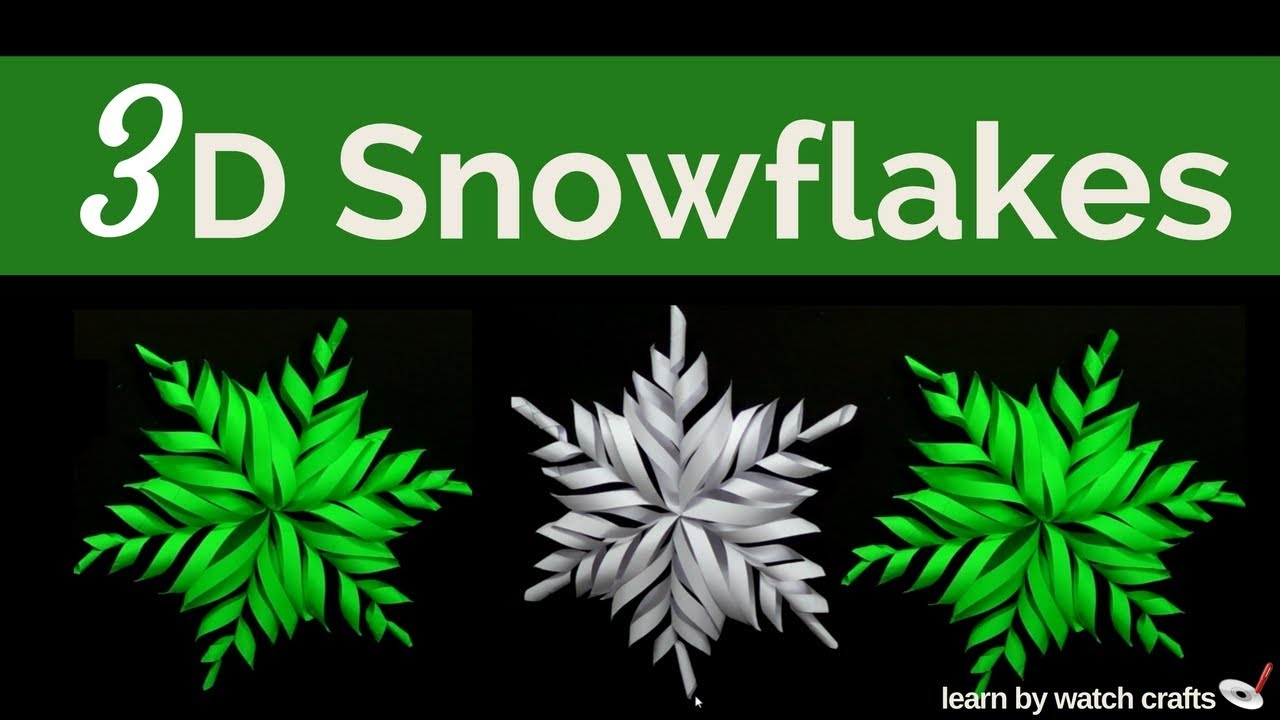 How to make a 3D Paper Snowflake at Your Home