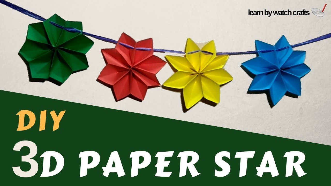 How to make 3D Paper Star at Your Home