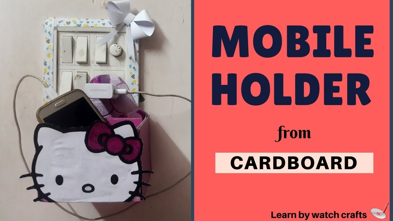 How to make MOBILE HOLDER at your home (DIY)