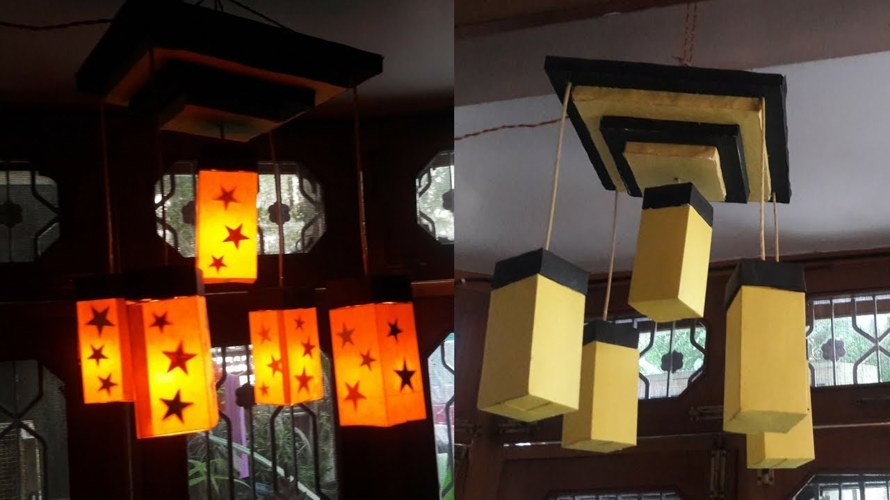 How to make paper Light Chandelier at your home (DIY)