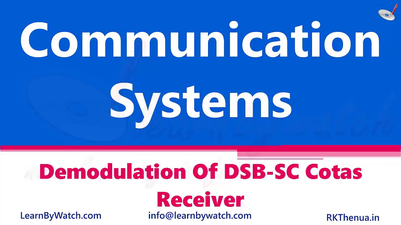 Demodulation of DSB-SC Costas Receiver