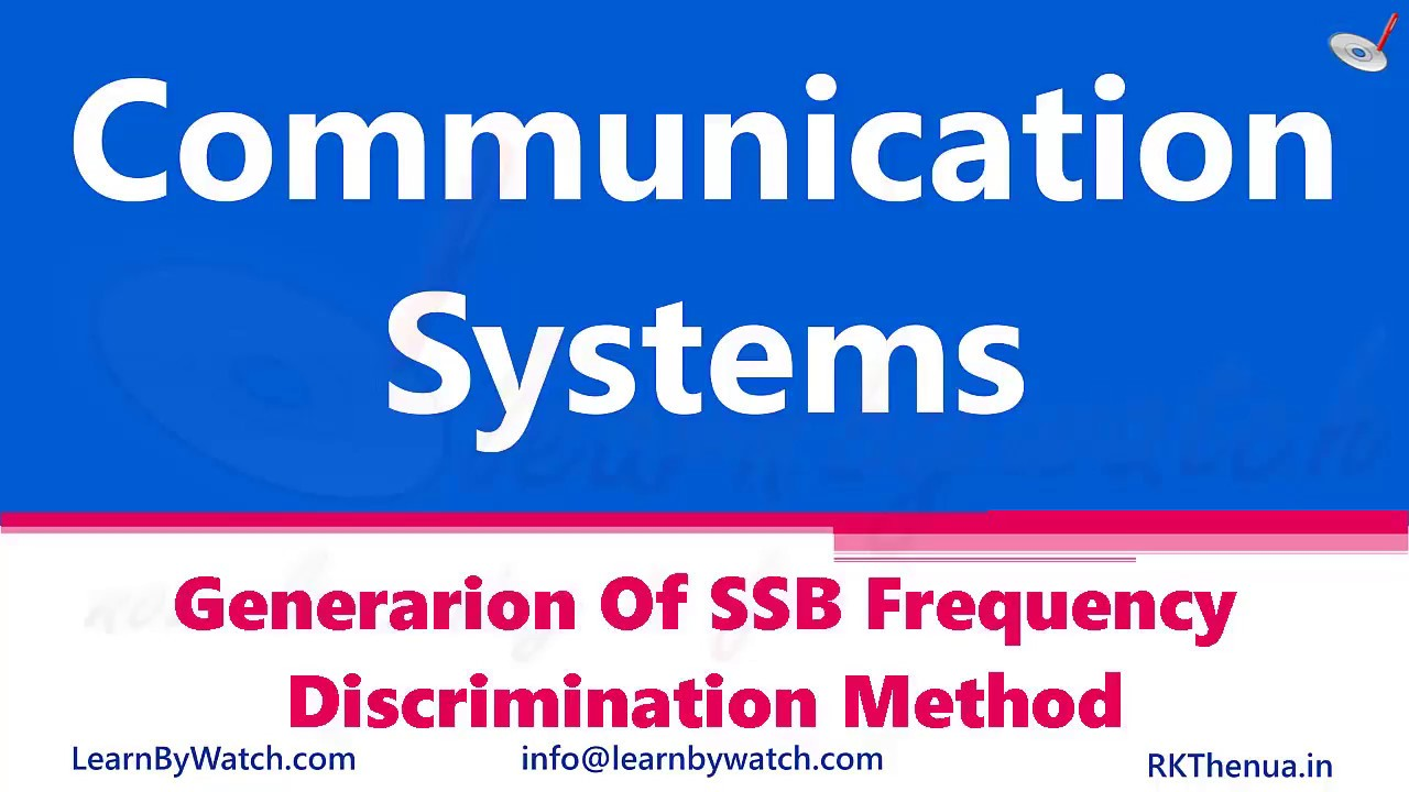 Generarion of SSB Frequency Discrimination Method