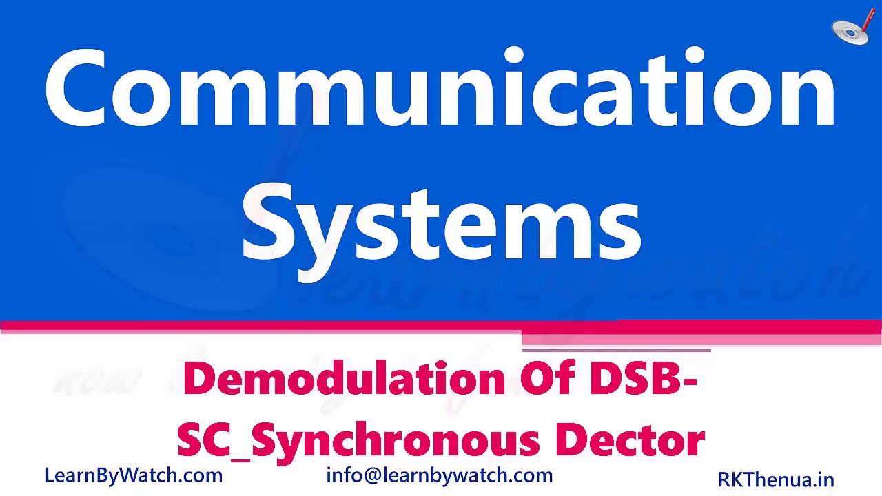 Demodulation of SSB Synchronous Detector