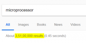 Microprocessor search on google